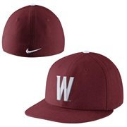 Nike Washington State Cougars True Colors Authentic Performance Fitted Hat - Red
