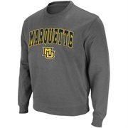 Mens Marquette Golden Eagles Charcoal Arch and Logo Sweatshirt