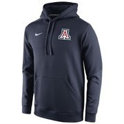 Mens Arizona Wildcats Nike Navy Blue 2014 Sideline KO Chain Fleece Therma-FIT Hoodie