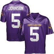 Chris Johnson East Carolina Pirates Football Jersey - Purple