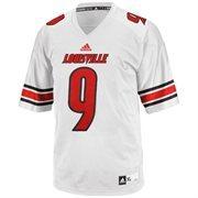 Mens Louisville Cardinals No. 9 adidas White Replica Football Jersey
