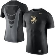 Men's Nike Black Army Black Knights 2015 Sideline Hypercool 3.0 Dri-FIT Fitted Performance Top