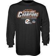 Oklahoma State Cowboys Black 2015 Cactus Bowl Champions Long Sleeve T-Shirt