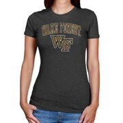Wake Forest Demon Deacons Women's Big Arch & Logo Heathered T-Shirt - Black