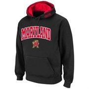 Maryland Terrapins Arch Logo Pullover Hoodie Sweatshirt - Black