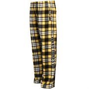 Wake Forest Demon Deacons Classic Flannel Pants - Gold/Black