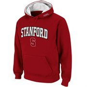 Mens Stanford Cardinal Cardinal Classic Arch Logo Twill Hoodie