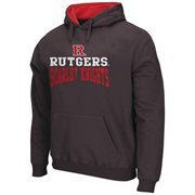 Mens Rutgers Scarlet Knights Charcoal Arch & Logo Pullover Hoodie