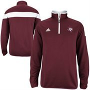 adidas Texas A&M Aggies 2014 Football Sideline Coaches Quarter Zip Performance Pullover Jacket - Maroon