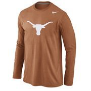 Texas Longhorns Nike Logo Cotton Long Sleeve T-Shirt - Burnt Orange