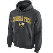 Georgia Tech Yellow Jackets Midsize Arch Pullover Hoodie - Dark Gray
