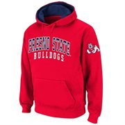 Fresno State Bulldogs  Double Arches Pullover Hoodie - Cardinal