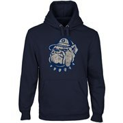 Georgetown Hoyas Distressed Secondary Pullover Hoodie - Navy Blue