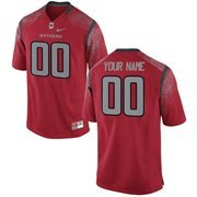 Men's Rutgers Scarlet Knights Nike Scarlet Team Color Custom Game Jersey