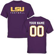 LSU Tigers Personalized Football T-Shirt - Purple