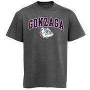 Mens Charcoal Gonzaga Bulldogs Arch Over Logo T-Shirt