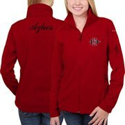 Women's San Diego State Aztecs Columbia Scarlet Give & Go Full Zip Jacket
