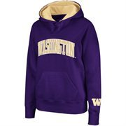 Washington Huskies Ladies Arch Logo Pullover Hoodie - Purple/Gold