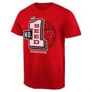 Men's Cardinal Wisconsin Badgers 2015 NCAA Men's Basketball Tournament #1 Seed T-Shirt