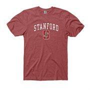 Stanford Cardinal Big Arch N' Logo Ring Spun T-Shirt - Heathered Red