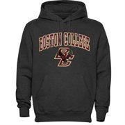 Mens Dark Gray Boston College Eagles Arch Over Logo Hoodie