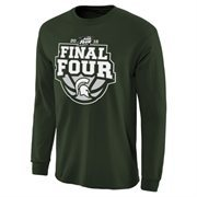 Men's Green Michigan State Spartans 2015 NCAA Men's Basketball Tournament Final Four Bound Crafted Long Sleeve T-Shirt