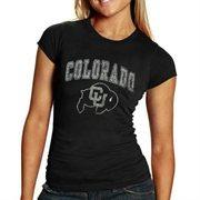 Colorado Buffaloes Women's Big Arch & Logo Heathered T-Shirt - Black
