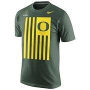 Mens Oregon Ducks Nike Green 2015 College Football Playoff Bound Flag Nation T-Shirt