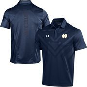 Men's Under Armour Navy Blue Notre Dame Fighting Irish Coaches Sideline Scout Polo