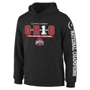 Mens Ohio State Buckeyes Black 2014 College Football Playoff National Champions OH1O Pullover Hoodie