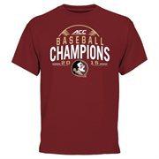 Men's Garnet Florida State Seminoles 2015 ACC Men's Baseball Tournament Champions T-Shirt