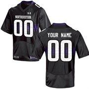 Under Armour Northwestern Wildcats Men's Custom Replica Jersey - Black