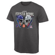 Mens Boise State Broncos vs. Arizona Wildcats Charcoal 2014 Fiesta Bowl Dueling Criss Cross T-Shirt