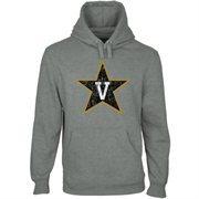 Vanderbilt Commodores Distressed Logo Vintage Pullover Hoodie - Gunmetal