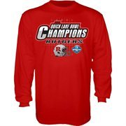 Mens Rutgers Scarlet Knights Scarlet 2014 Quick Lane Bowl Champions Long Sleeve T-Shirt