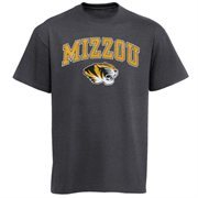 Mens Charcoal Missouri Tigers Arch Over Logo T-Shirt