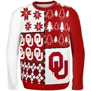 Oklahoma Sooners Crimson Busy Block Ugly Sweater