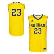 Men's adidas Maize Michigan Wolverines March Madness #23 Replica Basketball Jersey