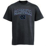 Mens Charcoal North Carolina Tar Heels Arch Over Logo T-Shirt