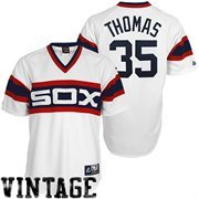 Frank Thomas Chicago White Sox #35 Majestic Cooperstown Collection Throwback Jersey - White