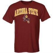 Mens Maroon Arizona State Sun Devils Arch Over Logo T-Shirt