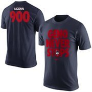 Men's Nike Navy Blue UConn Huskies Coach Geno 900th Win T-Shirt