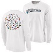 Men's White 2015 NCAA Men's Baseball College World Series 64 Team Long Sleeve T-Shirt