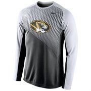Mens Missouri Tigers Nike Black 2014-2015 Fearless Shootaround Long Sleeve Dri-Fit Shirt