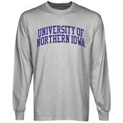 Northern Iowa Panthers Basic Arch Long Sleeve T-Shirt - Ash