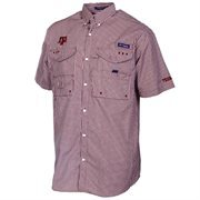 Men's Texas A&M Aggies Columbia Maroon Collegiate Super Bonehead Gingham Shirt