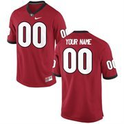 Men's Georgia Bulldogs Nike Red Custom Game Football Jersey