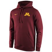 Mens Minnesota Golden Gophers Nike Sideline KO Chain Fleece Therma-FIT Hoodie