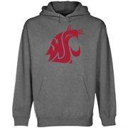 Mens Washington State Cougars Gunmetal Core Logo Premium Hoodie