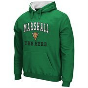 Mens Marshall Thundering Herd Green Arch & Logo Mascot Pullover Hoodie